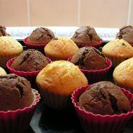 Muffiny s čokoládovou náplní recept