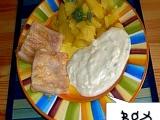 Rybí filety grilované  se sýrovou omáčkou recept