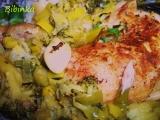 Zelené kuřátko pečené se zázvorem recept