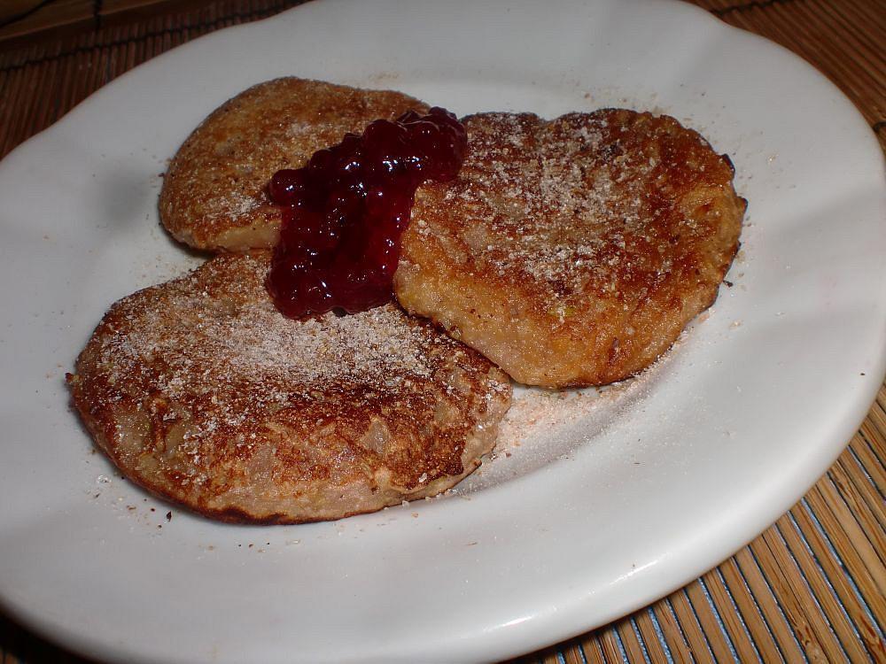 Opilé jablečné placičky recept