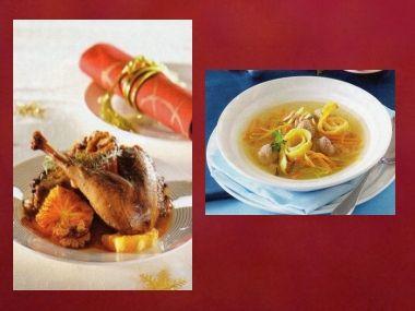 Sváteční oběd 49  Knedlíčková polévka a Bažant