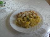 Brambory na kyselo s nastaveným vejcem recept