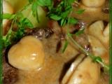 Plátky z kančí kýty s nakládanými hříbky recept