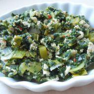 Dušený špenát na pórku recept