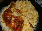 Smetanové kuřátko s brambůrkami recept