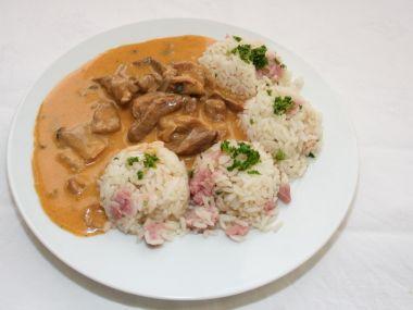 Recept Šunková rýže
