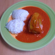 Rajská omáčka s plněným paprikovým luskem recept