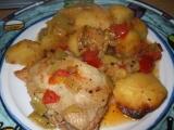Kuřecí se zeleninou z jednoho pekáče recept