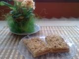 Jablkové řezy s ořechy recept