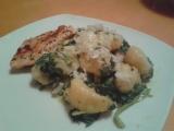 Gnocchi, špenát a kuřecí maso recept