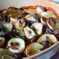 Pangas zapečený na houbách recept
