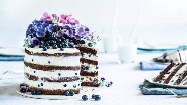 Borůvkovo-citrónový letní dort