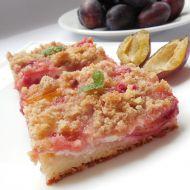 Kynutý švestkový koláč s tvarohem recept