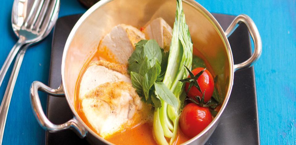 Thajské červené karí s kuřetem
