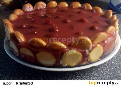 Jahodo-tvarohový nepečený dort recept