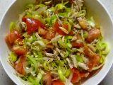 Pórkový salát s mandlemi recept