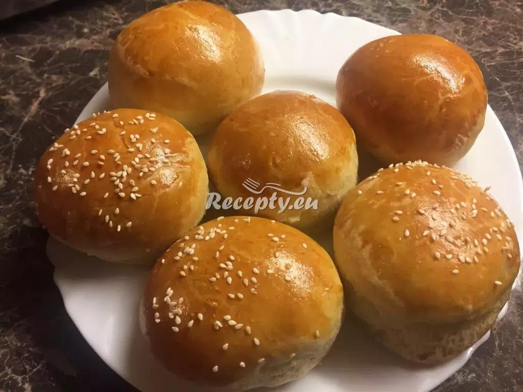 Domácí housky na hamburgery recept  pečivo