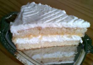 Kokosovo-tvarohový dort