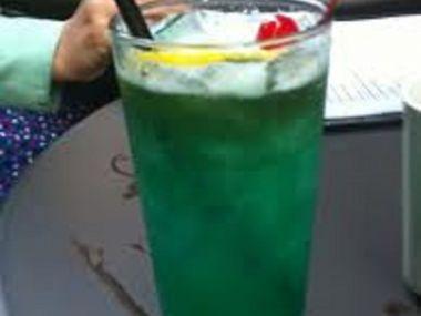 Horký zelený drink