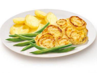 Křehké vepřové kotlety s bramborem