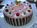 Pěnový dort z malin a bílé čokolády (malinová pěna & pěna z bílé ...
