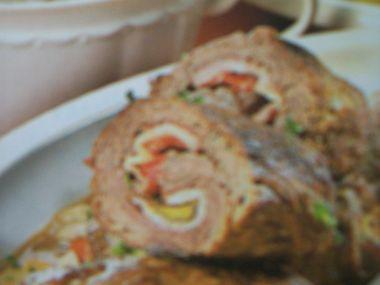 Bůčkové závitky s chlebovým knedlíkem