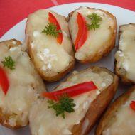 Pečené brambory plněné sýrem recept