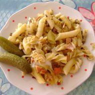 Rychlé těstoviny s houbami recept
