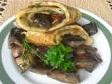 Bylinková omeleta s houbami recept