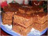 Čokoládovo-oříškové kostky recept