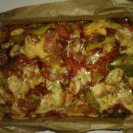 Pečené plněné papriky se sýrem recept