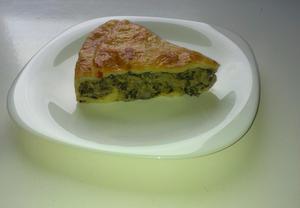 Španělský koláč se špenátem