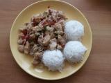 Čína s rýžovými nudličkami a rýží recept