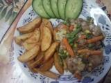 Vepřová kýta na zázvoru se zeleninou recept
