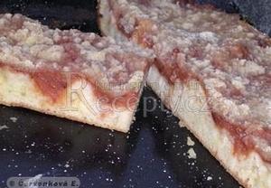 Drobenkový koláč s hruškovými povidly