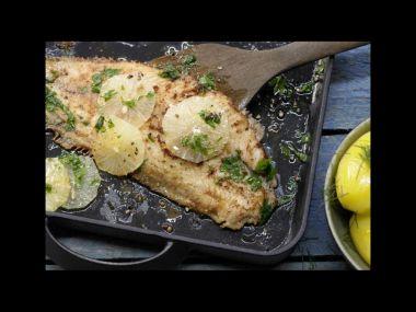 Recept Vařená ryba s citronovým přelivem
