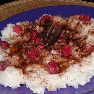 Rýžová kaše s malinami recept