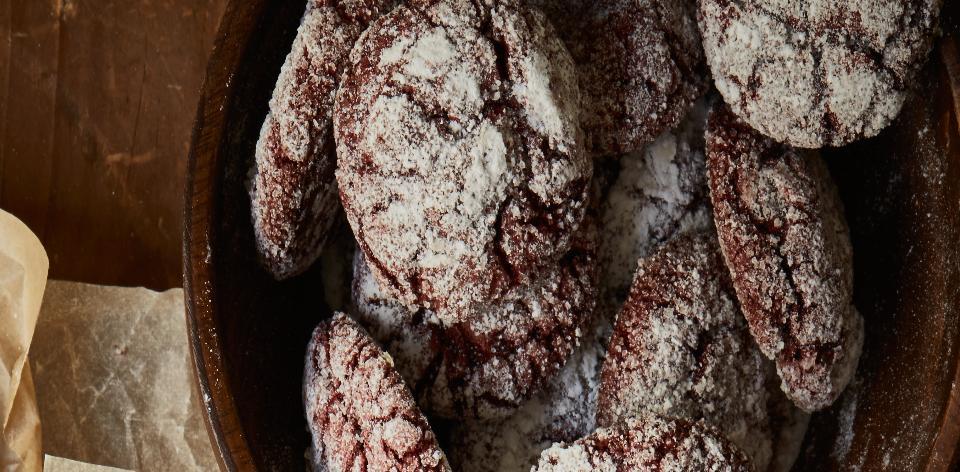 Červené čokoládové sušenky