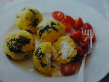 Špenátovo-polentové koule 2