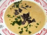 Polévka z červené čočky s křemenáči recept