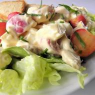 Vajíčkový salát s pečenými ředkvičkami recept