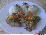 Kuřecí stehna na hořčici a zelenině v parním hrnci recept ...
