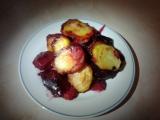 Zapečené brambory s červenou řepou recept