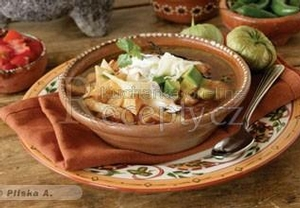 Mexická polévka  Sopa de Tortilla