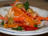 Jarní křupavý salát recept