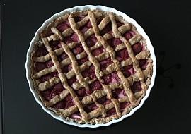Špaldový koláč s tvarohem a jahodami recept