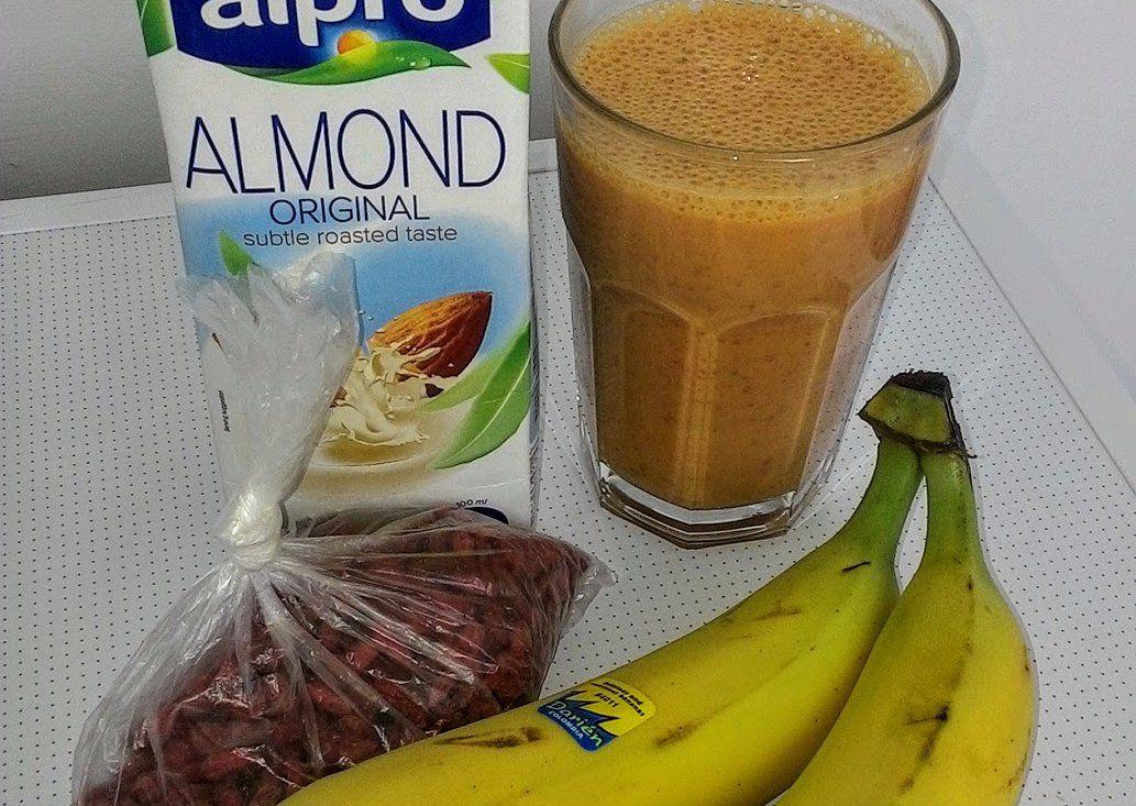 Banánový koktejl s goji recept