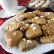 Linecká srdíčka s karamelovou polevou recept