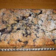 Banánovo-borůvkový koláč recept