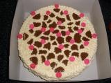 Oříškový dort s růžičkami recept
